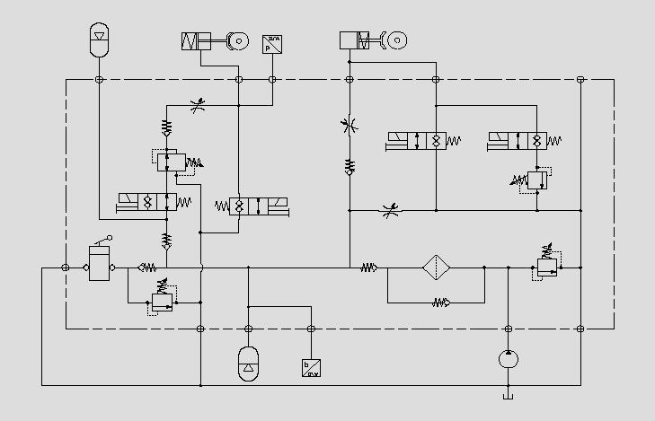 制动缩封机电路图